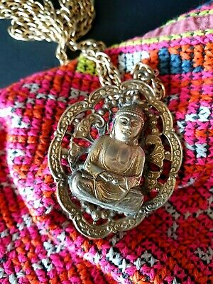 Old Tibetan Buddha Necklace on Chain …beautiful collection and accent piece