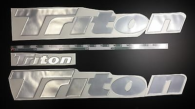 "Triton boat Emblem 26"" chrome + FREE FAST delivery DHL express - sticker decal"