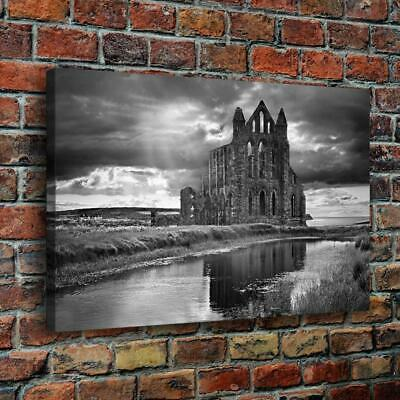 """Lakeside Castle HD Canvas prints Painting Home Decor Picture Wall art 16""""x24"""""""