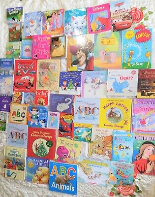 DISNEY book lot Hardcover Cars Curious George Girls ABC Learning books