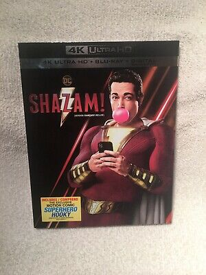 Shazam! 4k Ultra HD + Blu Ray + Digital Brand New Sealed With Slip Cover!