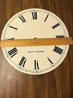 GENUINE SETH THOMAS CLOCK FACE  Made in USA ---PAINT ON METAL not paper