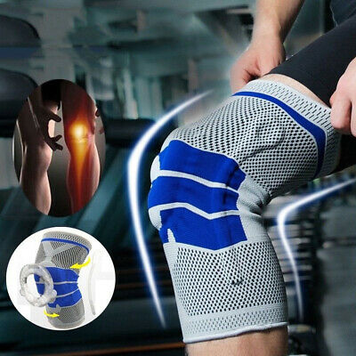 Knee Sleeve Compression Brace Patella Support Stabilizer Sports Gym Joint Pain
