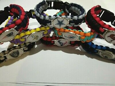 NFL Football Survival Paracord Bracelet Various Teams  US Seller