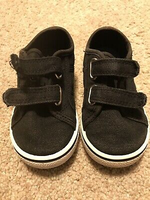 Jumping Beans Black Boy Sneakers Toddler Shoes Size 6 medium Slip On Strap Youth
