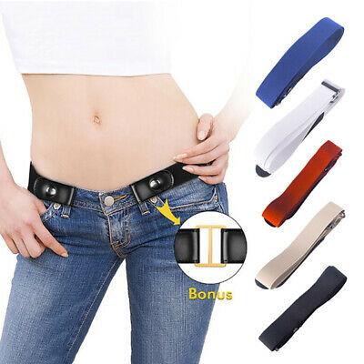 Unisex Buckle Free Elastic Invisible Belt For Jeans No Bulge Hassle Waist Belt.