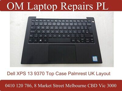 Dell XPS 13 9370 Top case Palmrest with Keyboard and Touchpad Uk layout