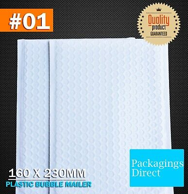 Plastic Bubble Mailer #01 160X230mm White 01 Premium Poly Padded Bag Envelope