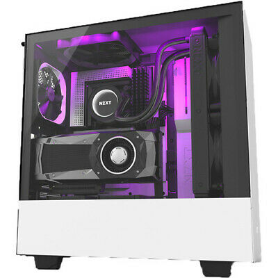 NZXT H510i Tempered Glass Matte White Mid-Tower ATX Desktop Computer PC Case