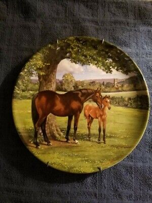 Spode American Quarter Horse Plate Susan Whitcombe 1988  Noble Horse Collection.