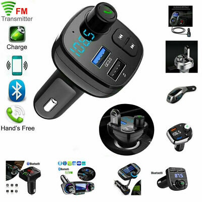 Wireless Bluetooth Handsfree Car FM Transmitter MP3 Player Dual USB Charger Kit