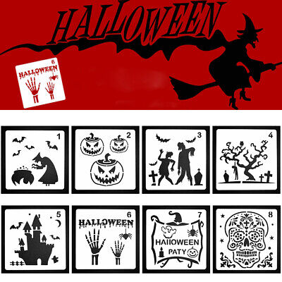 Happy Halloween Layering Stencils For Scrapbooking Painting Template Stamp-Album
