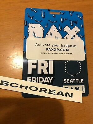 PAX West 2019 Friday Badge August 30 (price is for 1 badge)