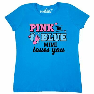 Inktastic Pink Or Blue Mimi Loves You Women/'s T-Shirt Reveal Grandma Party Love