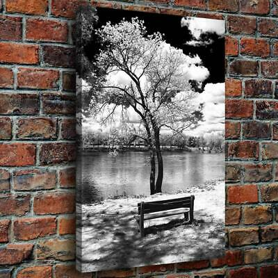 """Lakeside Scenery HD Canvas prints Painting Home Decor Picture Wall art  16""""x24"""""""