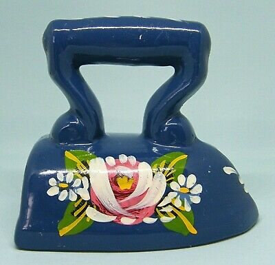 Decorative Hand Painted Floral Ceramic Canalware Barge Ware Iron - Anne Bayston