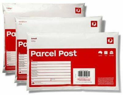 10 x 3kg Parcel Post Regular Satchel Aust Post with FREE EXPRESS DELIVERY
