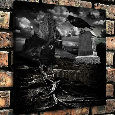 """Halloween Crow HD Canvas print Painting Home Decor Picture Room Wall art 16""""x16"""""""