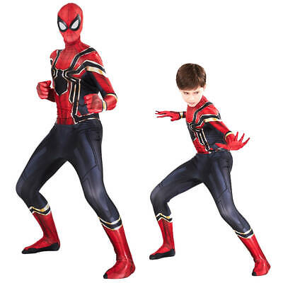 Spider-Man Homecoming Iron Spiderman super-héros Cosplay Costume enfants adultes