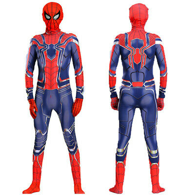 Spider-Man Far From Home Kids Cosplay Spiderman Jumpsuit Costume Suit Halloween