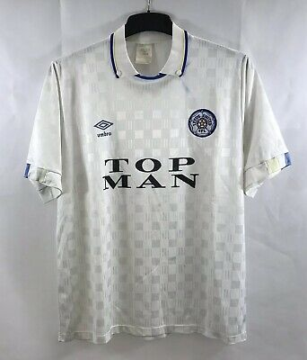 Leeds United Home Football Shirt 1989/90 Adults Large Umbro B29