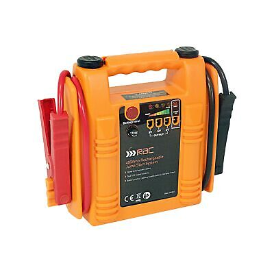 RAC Jump Starter - Heavy Duty 400 Amp Rechargeable - Orange/red .