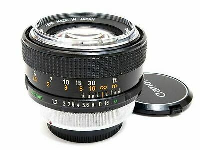 Canon FD 55mm F1.2 Standard Fast Prime Lens Chrome Nose Excellent from Japan F/S