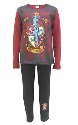 Licensed Girls Boys Kids Harry Potter Gryffindor Pyjamas Pjs Nightwear