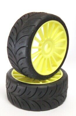 SP Tire Gomme 1/8 GT For GTX8 MGT7 RGT8 YELLOW rims SPORT (2 pairs=4 tires)
