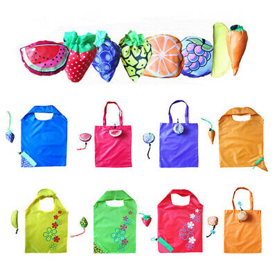 Cute Fruit Storage Folding Reusable Folding Grocery Shopping Bag Eco Tote Pouch#