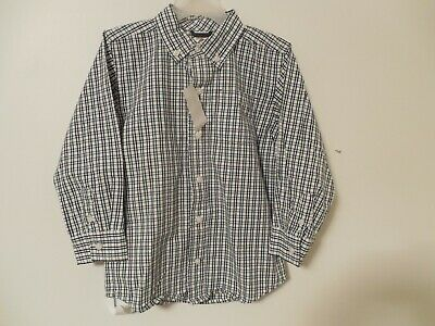 NWT Boys Toddler Gymboree Shirt 4T Blue Plaid Long Sleeve button down Easter