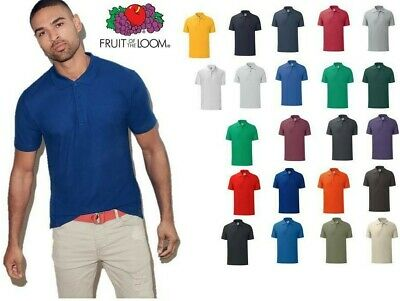 Polo Uomo Manica Corta Fit Iconic Fruit Of The Loom t-shirt personalizzabile