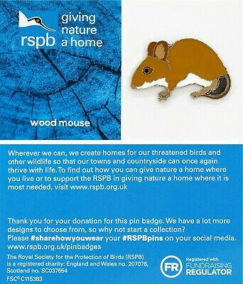 RSPB Pin Badge | woodmouse GNAH BLUE (01559)