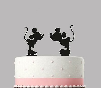 Mickey Mouse Minnie Mouse Birthday Cake Topper Decoration. 120mm Topper.431