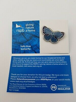 RSPB Pin Badge | holly blue butterfly GNAH BLUE (01510)
