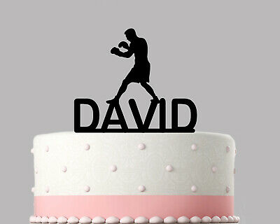 Boxer, Boxing Birthday Cake Topper Decoration Personalised Acrylic.273