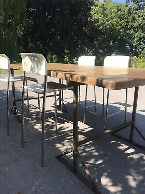 Antique Solid Oak Table top / Great Kitchen Island Top With Trestle Legs