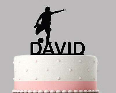 Football Footy Birthday Cake Topper Decoration Personalised Acrylic.261