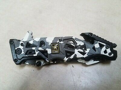 """9"""" MILITARY Black Camo Tactical ARMY Spring Assisted Open Folding Pocket Knife"""