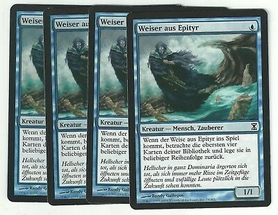 4 PLAYED Sage of Epityr Blue Time Spiral Mtg Magic Common 4x x4