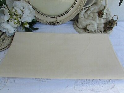 Antique French Huge Unbleached Never Used Metis Linen Panel. Fleur Blue Toile 4