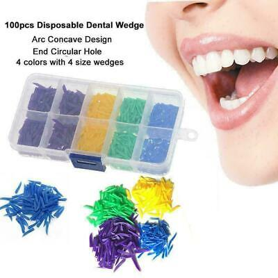 4 Size Dental Disposable Teeth Diastema Plastic Wedges Denture Material 800 W0X8