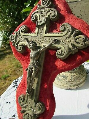 Magnificent Imposing Antique French Large Holdy Water Font Cross. 1800'S