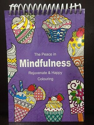 New - Adult Colouring Book - Mindfulness - Design 1 - 70 Sheets To Colour