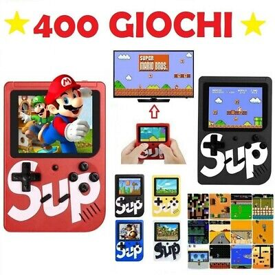 Sup game box mini console portatile 400 giochi retro' game boy videogioco snes