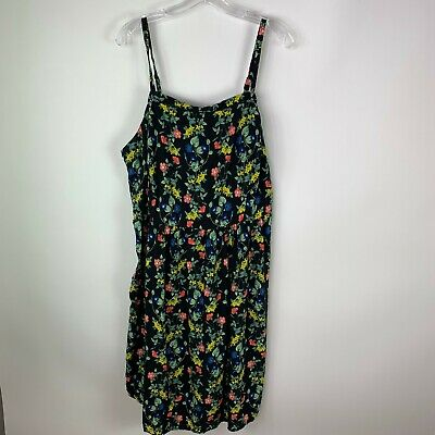 Old Navy Womens Floral Dress Plus Size 3X Lined Sleeveless Straps