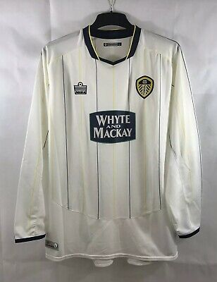 Leeds United L/S Home Football Shirt 2005/06 Adults Large Admiral B85