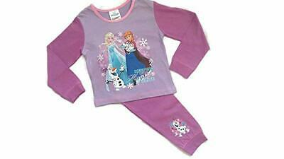Disney Kids Official Frozen Long Pyjamas PJ's Set Childrens Girls Size 1-4 Years