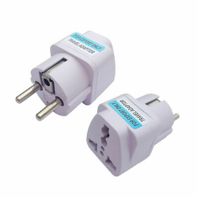 USA US UK AU To EU Europe Travel Charger Power Adapter Home Plug Converter Y9B7