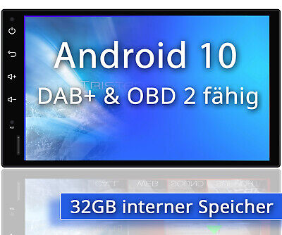 Android AUTORADIO mit Navigation NAVI BLUETOOTH USB GPS 2 doppel DIN DAB MP3 3G